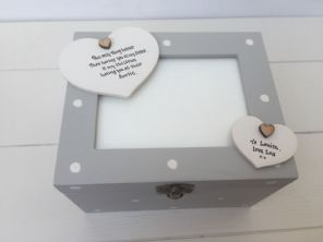 Shabby Personalised Chic Photo Box Glass Framed Lid Special Best Sister Present